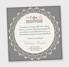Convite de noivado. Design bacanudo!