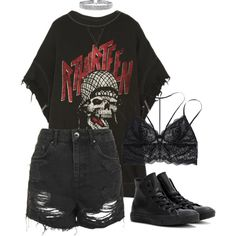 Designer Clothes, Shoes & Bags for Women Grunge Outfits, Edgy Outfits, Teen Fashion Outfits, Retro Outfits, Cute Casual Outfits, Girl Outfits, 90s Grunge, Aesthetic Grunge Outfit, Aesthetic Clothes
