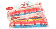 McCraws taffy is a great old fashioned giant taffy candy. Yummy taffy that has a great old fashion taste you will sure love to eat.  http://www.candydirect.com/mccraws-giant-taffy-24-count
