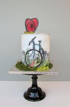 Bicycle cake - cake by daruj tortu Gorgeous Cakes, Pretty Cakes, Amazing Cakes, Bicycle Cake, Bicycle Wheel, Bmx Bicycle, Cupcakes, Cupcake Cakes, Bicycle Birthday Parties