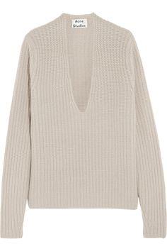 Acne Studios | Deborah oversized ribbed wool sweater #FW14 #trend