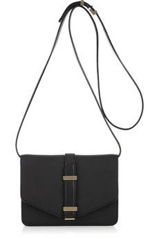 Victoria Beckham Mini Satchel Textured-Leather Shoulder Bag