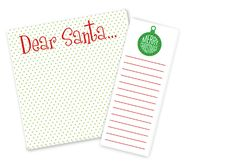 """Ann Page Holiday Notepad Set - $25  Set of 3x8 and 8""""x8"""" notepad.  25 sheets of 80 lb. cover weight.  All notepads come tied with coordinating raffia."""