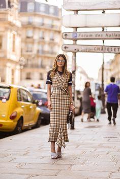 Thássia em Paris_Alta Costura_Look Xadrez3