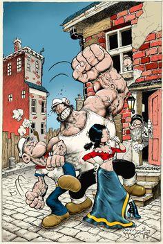 Popeye CLASSICS Steve Mannion Variant issue 30 by rattlesnapper.deviantart.com on @deviantART