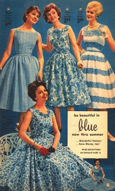 Blue Retro Dresses