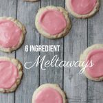 Meltaway Cookies Recipe | landeelu.com  These cookies only need six ingredients and I bet you have them all on hand!  No EGGS!