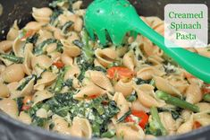 Creamed Spinach Shells and Cheese