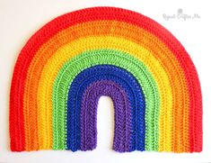 Crochet Rainbow for Window during Coronavirus Pandemic