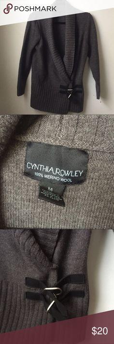 Cynthia Rowley Wool Sweater Cardigan Warm and stylish Cynthia Rowley sweater. 100% wool. Buckle and snap closure. Great condition Cynthia Rowley Sweaters Cardigans