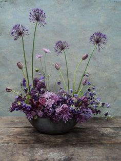 Image result for purple and silver flower arrangements