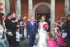 With dazzling details aplenty, Kirsty Saville and Sam Roberts' wedding day perfectly fulfilled the couple's 'fun and bright' brief Hot Pink Weddings, Real Weddings, Wedding Confetti, Bridesmaid Dresses, Wedding Dresses, Devon, Wedding Day, Couples, Board
