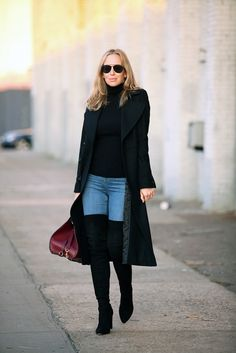 69 Ideas for overknee boats outfit brooklyn blonde Brooklyn Blonde, Fall Winter Outfits, Autumn Winter Fashion, Casual Winter, Winter Style, Polo Noir, Look Fashion, Fashion Outfits, Fashion Blogs
