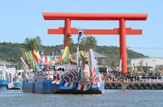 鹿島神宮(鹿嶋市)の12年に1度の水上祭「御船祭