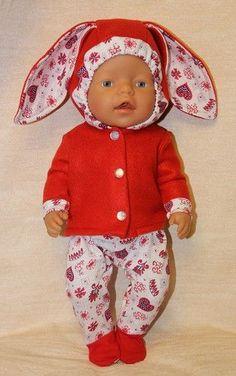 Зайка моя... Выкройка костюмчика для Baby Born / Мастер-классы, творческая мастерская: уроки, схемы, выкройки кукол, своими руками / Бэйбики. Куклы фото. Одежда для кукол