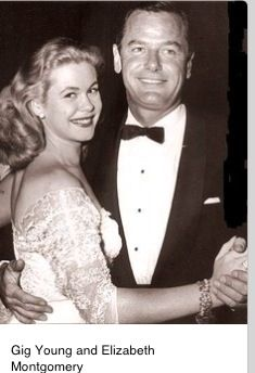 Elizabeth Montgomery and Gig Young on their wedding day.