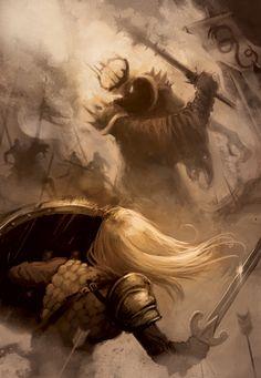 Eowyn vs Nazgul by oliverojm.deviantart.com