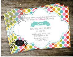 Nursery rhyme invitations storybook 1st birthday party pinterest itsy bitsy spider nursery rhyme invitation birthday party invite filmwisefo Choice Image