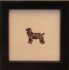 Boykin Spaniel Cross Stitched Full Body Dog. by pianstitches