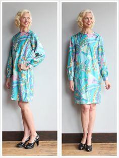 1960s Dress // Feel the Love Dress // vintage by dethrosevintage
