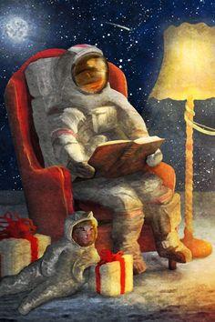 Ausschnitt Illustration für eine individuelle Weihnachtskarte - Cosmos Consulting Group Poster, Illustration, Painting, Christmas Cards, Idea Paint, Neckline, Christmas, Illustrations, Painting Art
