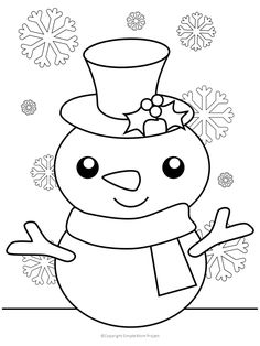 Free Printable Christmas Coloring Sheets for Kids and Adults - Simple Mom Project Click now to print these cute, FREE Snowman coloring pages and sheets for the whole family; toddlers, preschoolers, big kids, teens and adults! Christmas Coloring Sheets For Kids, Snowman Coloring Pages, Printable Christmas Coloring Pages, Free Christmas Printables, Printable Crafts, Coloring Pages For Kids, Coloring Books, Coloring Set, Adult Coloring