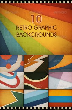 10 Retro Graphic Backgrounds Graphicriver Item For Orange Yellow Background