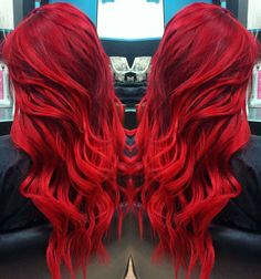 TOP hairstyles that you will love! Weekly hair collection: 31 TOP hairstyles that you will love!Weekly hair collection: 31 TOP hairstyles that you will love! Red Hair Color, Cool Hair Color, Crazy Hair Colour, Crimson Red Hair, Top Hairstyles, Gorgeous Hairstyles, Bright Red Hairstyles, Coloured Hair, Bright Colored Hair
