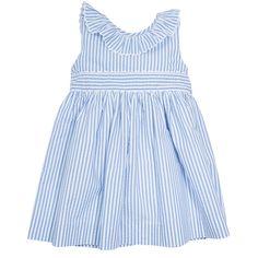 Classic nautical striped dress - White and Blue