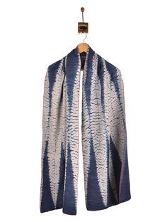 Buy Indigo Kantha Shibori Silk Stole Online at Jaypore.com
