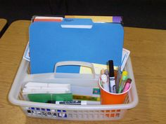 Keep only the things you will need at the moment in your basket!  This page has so many good ideas for guided reading!