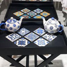 Seher Nigiz (@sehernigiz) | Instagram photos and videos Pottery Painting, Ceramic Painting, Ceramic Art, Islamic Tiles, Coffee Shop Design, Blue Pottery, Decoupage Vintage, Pottery Studio, Tile Art