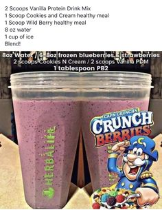 Herbalife Shake Flavors, Herbalife Recipes, Herbalife Nutrition, Protein Drink Mix, Protein Shake Recipes, Protein Shakes, Nutribullet Recipes, Smoothie Recipes, Wild Berry Recipe