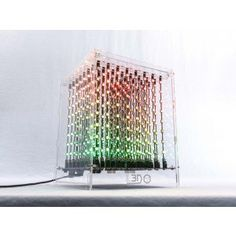 The L3D Cube is a 3D LED display that will blow your MIND! It has 512 RGB LEDs in a 8x8x8 array that works out of the box. The full colour LED cube shows brilliant images and animations in 3D, is easy to assemble and requires no soldering. Multiple cubes can be connected together and they can interact wirelessly.