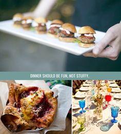 Six Tasty Wedding Food Ideas