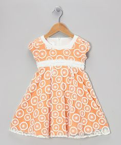 Take a look at this Orange Maui Melon Dress - Toddler & Girls by Isobella & Chloe on #zulily today!