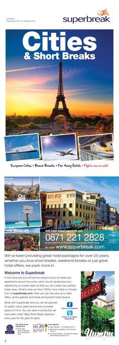 Paris - Superbreak - Magazine with 76 pages: Paris - Superbreak City Shorts, Weekend Breaks, Travel Magazines, Great Hotel, City Beach, Travel Agency, Hotel Offers, Paris