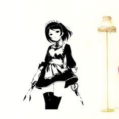 Anime Manga  Wall Decal Vinyl Sticker decor girl by StickerLuck, $29.99