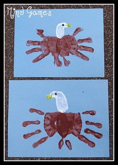 Bald Eagle handprint art -