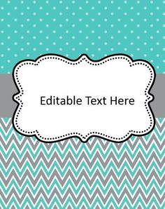 Editable Binder Cover Freebies   Print Perfect   Pinterest