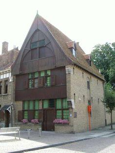 Bokrijk belgique mus e de plein air huis de witte engel het eerste huis in de oude stad for Deco houten huis