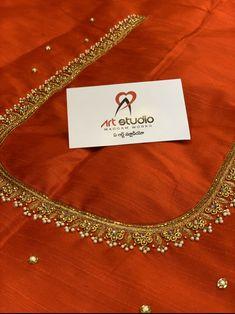 Simple Kurta Designs, Kids Blouse Designs, Hand Work Blouse Design, Stylish Blouse Design, Bridal Blouse Designs, Blouse Neck Designs, Hand Designs, Hand Embroidery Designs, Aari Embroidery