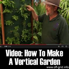 "Please Share This Page: Video: How To Make A Vertical GardenPhoto – http://www.youtube.com/watch?v=dPCAaMS7nFw Have you ever thought of gardening on the wall? – It sounds a bit crazy for sure, but this short video by gardeningcentral will show you how to do just that… welcome to the world of Vertical Gardening! Vertical Gardens or ""living [...]"