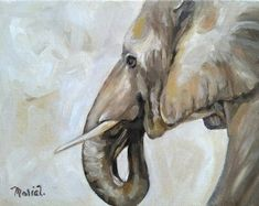 Elephant by MariaTepperPaintings on Etsy Art Pieces, Etsy Seller, Elephant, Paintings, Artwork, Work Of Art, Paint, Auguste Rodin Artwork, Artworks