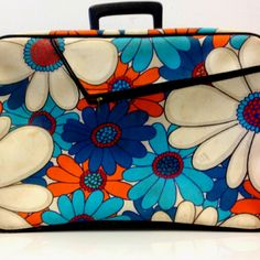 Flower power suitcase. From Fab.com.