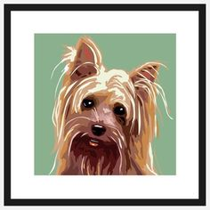 Pop Art Yorkshire Terrier II, $39, now featured on Fab.