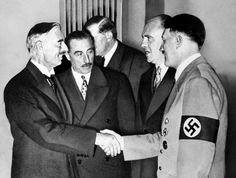 Neville Chamberlain and Hitler ~ Even the pre-war August 28th headline of the Hitler-hating New York Times confirmed that Hitler sought to avoid war with Britain & France.