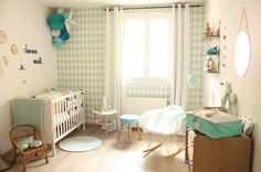 La chambre d'Hugo - Babayaga Magazine Plus 21st Century Homes, Baby Deco, Vintage Interiors, Nursery Themes, House Floor Plans, Home Decor Items, Baby Love, Cribs, Kids Room