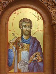 Byzantine Icons, Byzantine Art, Orthodox Icons, Jesus Christ, Saints, Painting, Fictional Characters, Decor, Places