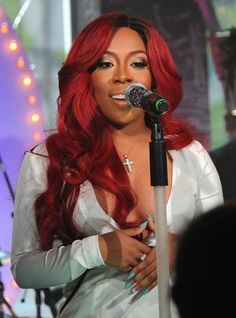 K Michelle Red Hair Extensions/weaves/hairstyles I love